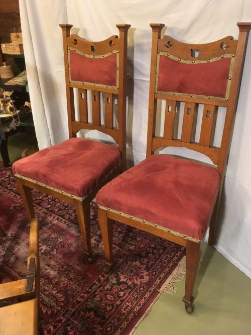 Arts and Crafts chairs ca 1900