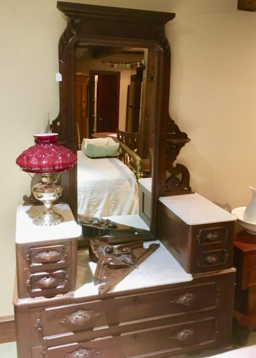 Victorian dresser ca.1870 walnut & marble