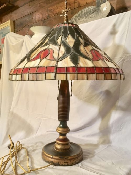 Stained Glass Lamp 1920s