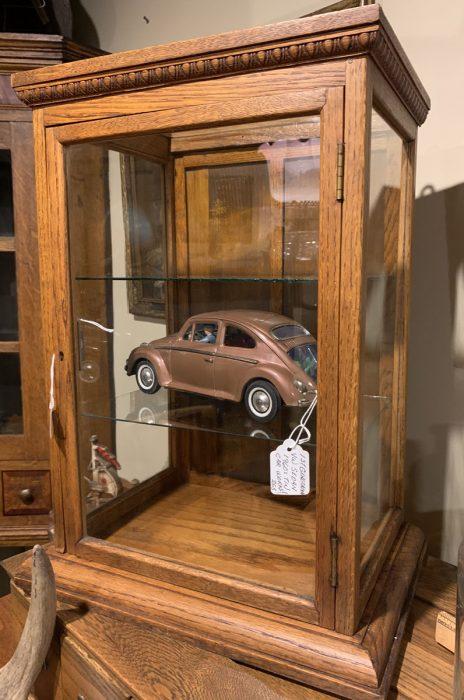 Display Case -Volkswagen Sedan Tin Toy 1960's .