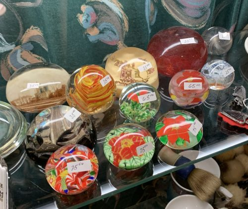 Antique/vintage Glass Paper weights .