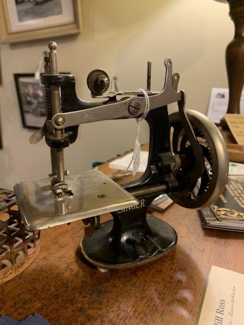 Toy Singer Sewing Machine Ca. 1900.