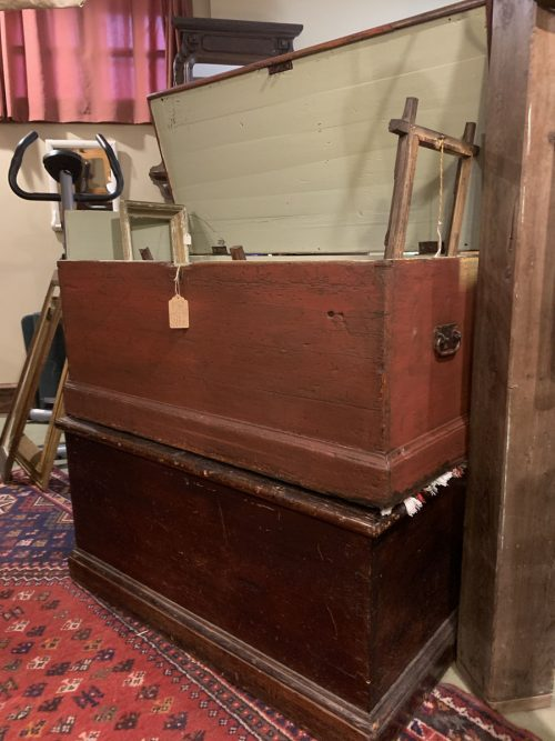 Blanket Box / trunks Ca 1840.